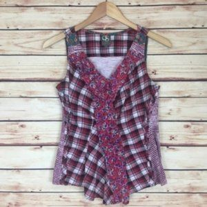 Anthropologie One September Mixed Print Tank Top P